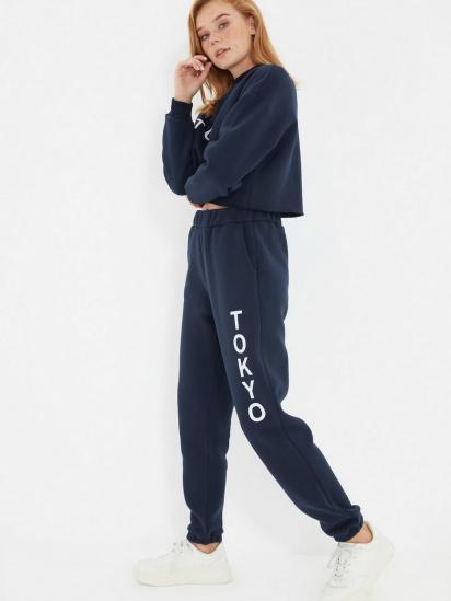 Спортивні штани Trendyol модель TWOAW22EA0181/Lacivert — фото 4 - INTERTOP