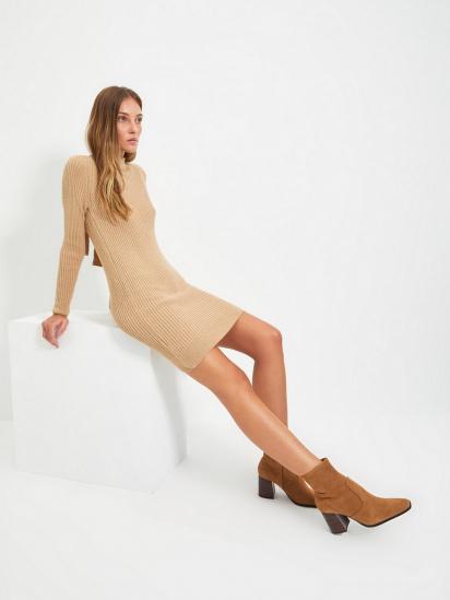 Сукня Trendyol модель TWOAW22EL0017/Bej — фото 4 - INTERTOP
