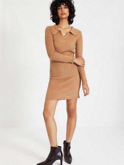 Сукня Trendyol модель TWOAW22EL0037/Camel — фото 2 - INTERTOP