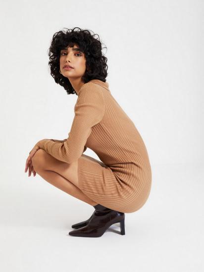 Сукня Trendyol модель TWOAW22EL0037/Camel — фото 3 - INTERTOP