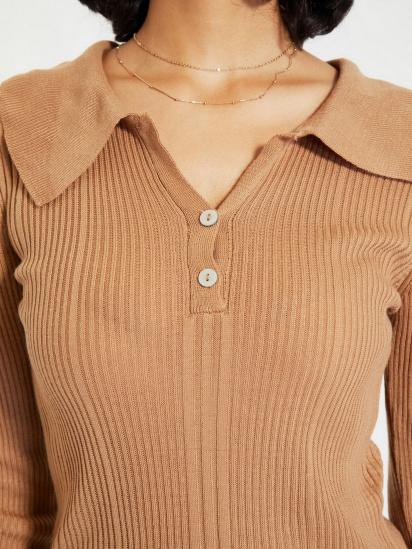 Сукня Trendyol модель TWOAW22EL0037/Camel — фото 4 - INTERTOP