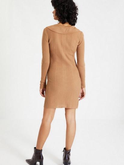 Сукня Trendyol модель TWOAW22EL0037/Camel — фото 5 - INTERTOP