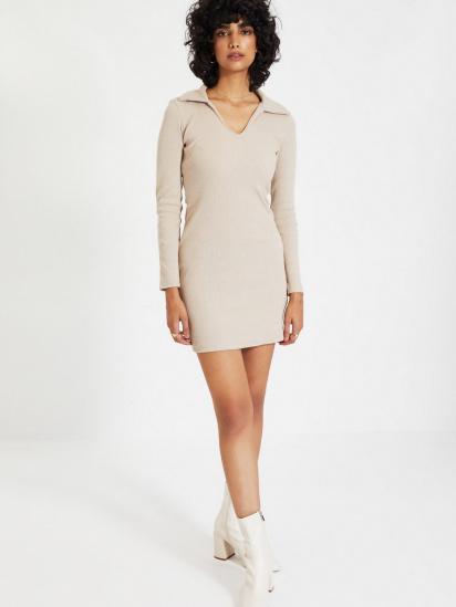 Сукня Trendyol модель TWOAW22EL0077/Camel — фото 5 - INTERTOP