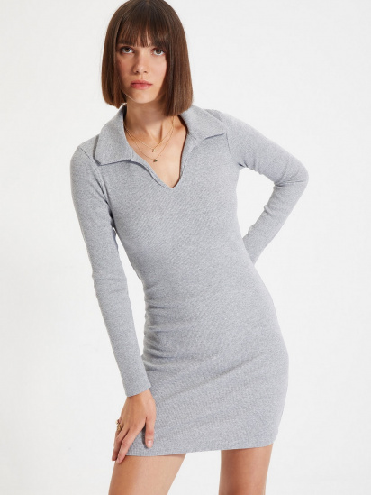 Сукня Trendyol модель TWOAW22EL0077/Gri — фото 3 - INTERTOP