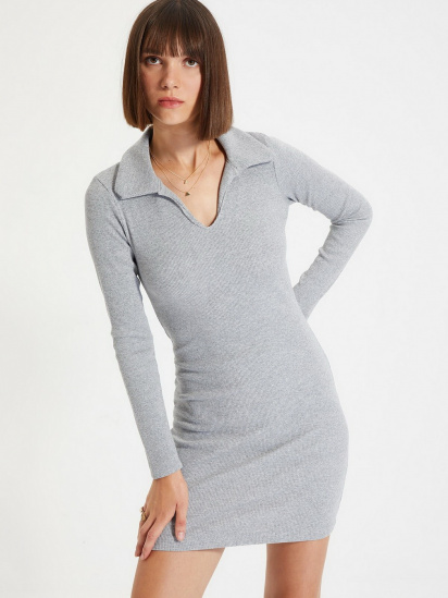 Сукня Trendyol модель TWOAW22EL0077/Gri — фото 4 - INTERTOP