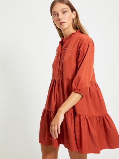 Сукня Trendyol модель TWOAW22EL0131/Kiremit — фото 3 - INTERTOP
