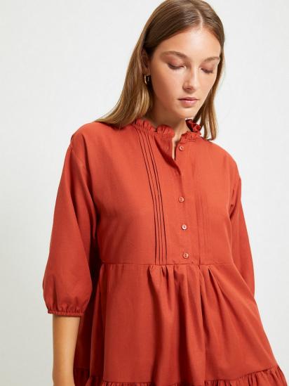Сукня Trendyol модель TWOAW22EL0131/Kiremit — фото 4 - INTERTOP