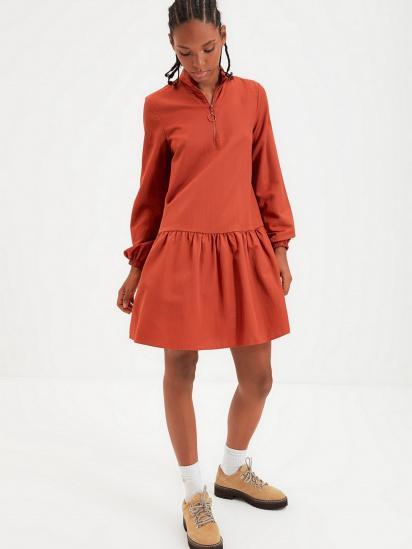 Сукня Trendyol модель TWOAW22EL0180/Kiremit — фото 3 - INTERTOP