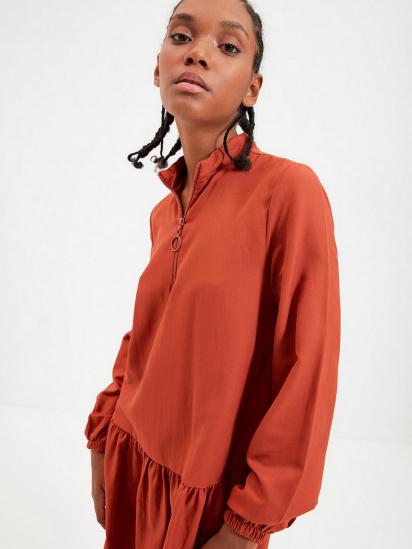 Сукня Trendyol модель TWOAW22EL0180/Kiremit — фото 4 - INTERTOP