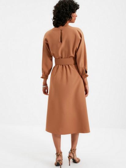 Сукня Trendyol модель TWOAW22EL0318/Camel — фото 2 - INTERTOP