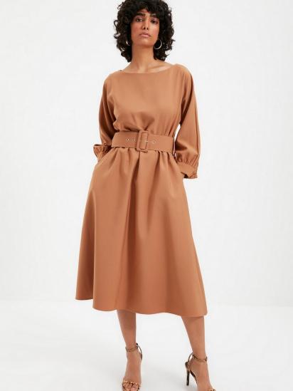 Сукня Trendyol модель TWOAW22EL0318/Camel — фото 3 - INTERTOP