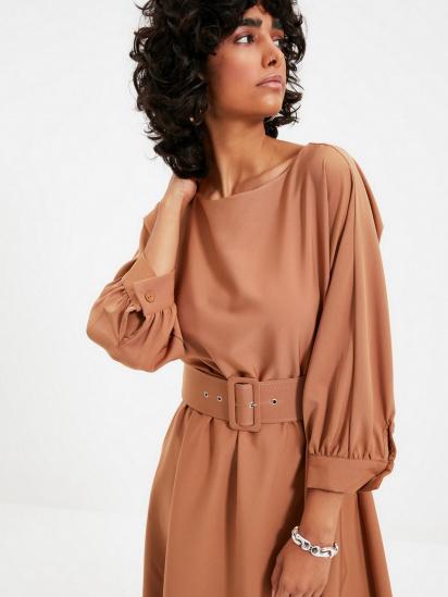 Сукня Trendyol модель TWOAW22EL0318/Camel — фото 4 - INTERTOP