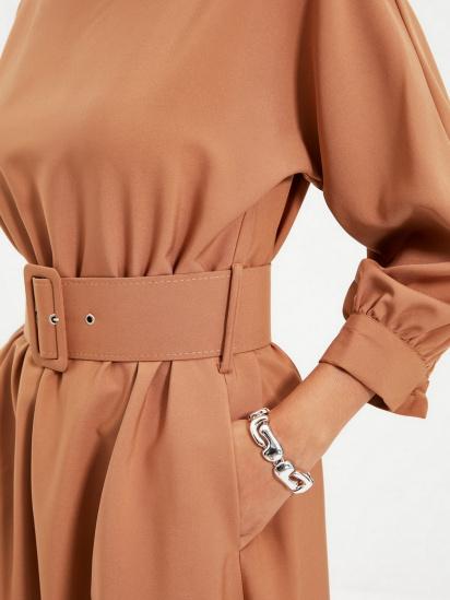 Сукня Trendyol модель TWOAW22EL0318/Camel — фото 5 - INTERTOP