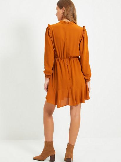 Сукня Trendyol модель TWOAW22EL0504/Camel — фото 2 - INTERTOP