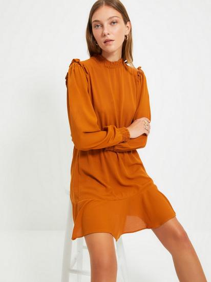 Сукня Trendyol модель TWOAW22EL0504/Camel — фото 3 - INTERTOP