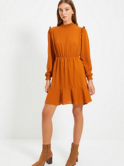 Сукня Trendyol модель TWOAW22EL0504/Camel — фото 4 - INTERTOP