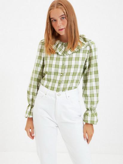 Сорочка з довгим рукавом Trendyol модель TWOAW22GO0123/Yesil — фото 2 - INTERTOP