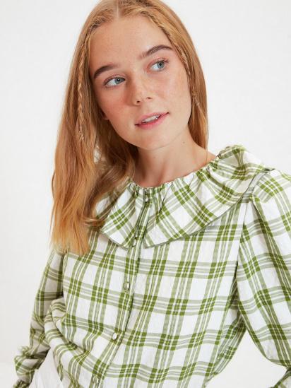 Сорочка з довгим рукавом Trendyol модель TWOAW22GO0123/Yesil — фото 3 - INTERTOP