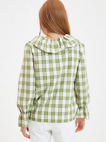 Сорочка з довгим рукавом Trendyol модель TWOAW22GO0123/Yesil — фото 4 - INTERTOP