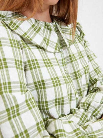 Сорочка з довгим рукавом Trendyol модель TWOAW22GO0123/Yesil — фото 5 - INTERTOP