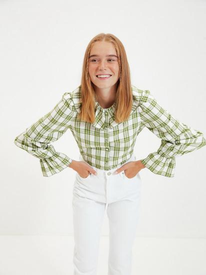 Сорочка з довгим рукавом Trendyol модель TWOAW22GO0123/Yesil — фото - INTERTOP