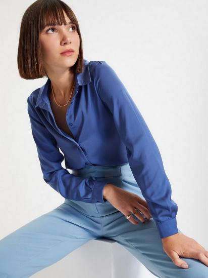 Сорочка з довгим рукавом Trendyol модель TWOAW22GO0131/Indigo — фото 2 - INTERTOP