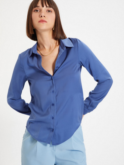 Сорочка з довгим рукавом Trendyol модель TWOAW22GO0131/Indigo — фото 3 - INTERTOP