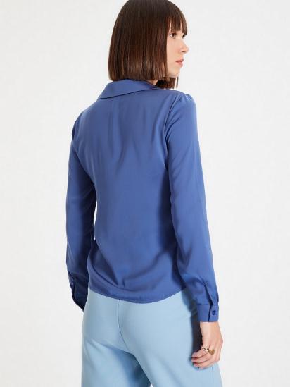 Сорочка з довгим рукавом Trendyol модель TWOAW22GO0131/Indigo — фото 4 - INTERTOP