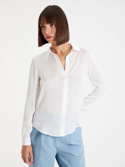 Сорочка з довгим рукавом Trendyol модель TWOAW22GO0132/Ekru — фото - INTERTOP