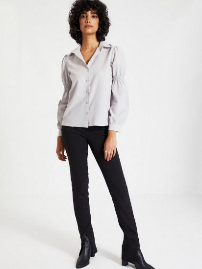 Сорочка з довгим рукавом Trendyol модель TWOAW22GO0141/Gri — фото 2 - INTERTOP