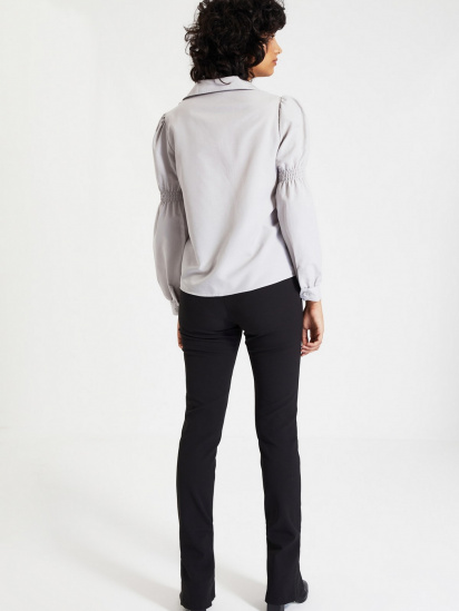Сорочка з довгим рукавом Trendyol модель TWOAW22GO0141/Gri — фото 3 - INTERTOP