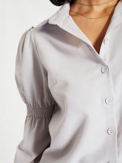 Сорочка з довгим рукавом Trendyol модель TWOAW22GO0141/Gri — фото 4 - INTERTOP