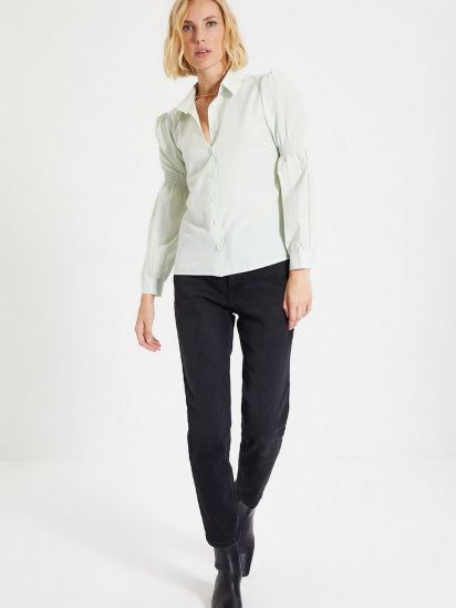 Сорочка з довгим рукавом Trendyol модель TWOAW22GO0141/Mint — фото 2 - INTERTOP