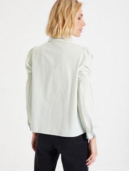 Сорочка з довгим рукавом Trendyol модель TWOAW22GO0141/Mint — фото 3 - INTERTOP