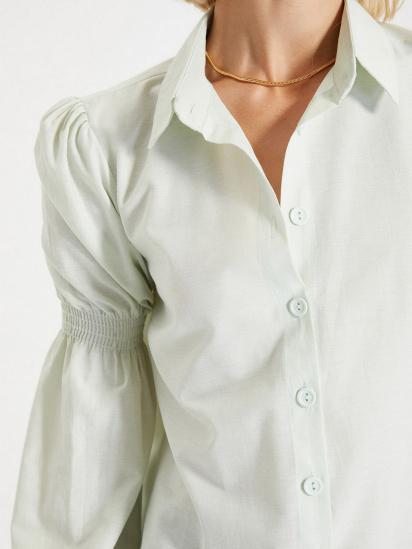 Сорочка з довгим рукавом Trendyol модель TWOAW22GO0141/Mint — фото 4 - INTERTOP