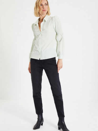 Сорочка з довгим рукавом Trendyol модель TWOAW22GO0141/Mint — фото 5 - INTERTOP