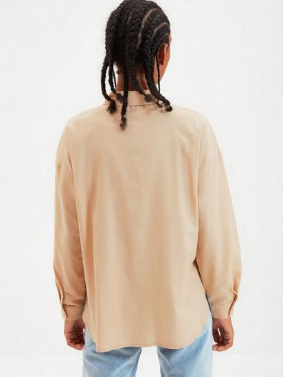 Сорочка з довгим рукавом Trendyol модель TWOAW22GO0147/Camel — фото 2 - INTERTOP