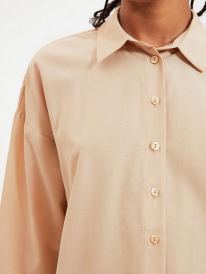 Сорочка з довгим рукавом Trendyol модель TWOAW22GO0147/Camel — фото 3 - INTERTOP