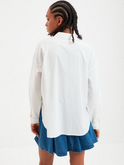 Сорочка з довгим рукавом Trendyol модель TWOAW22GO0147/Ekru — фото 2 - INTERTOP