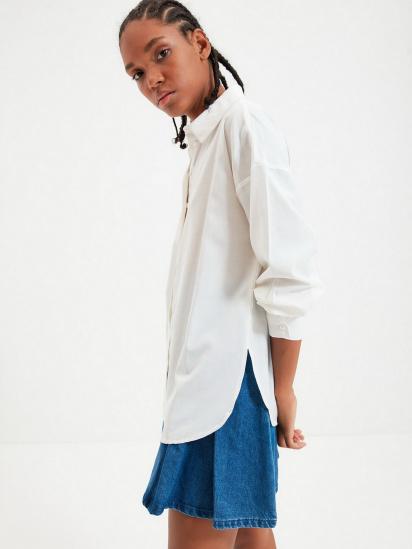 Сорочка з довгим рукавом Trendyol модель TWOAW22GO0147/Ekru — фото 3 - INTERTOP