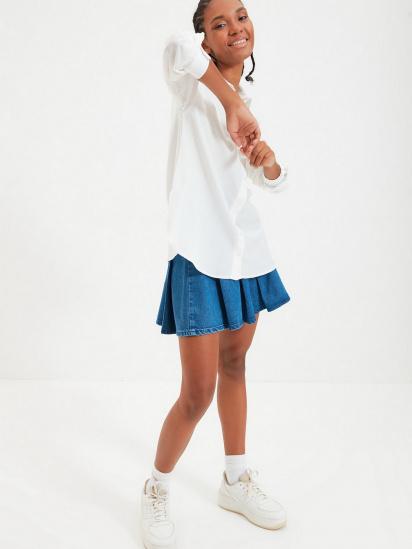Сорочка з довгим рукавом Trendyol модель TWOAW22GO0147/Ekru — фото 4 - INTERTOP