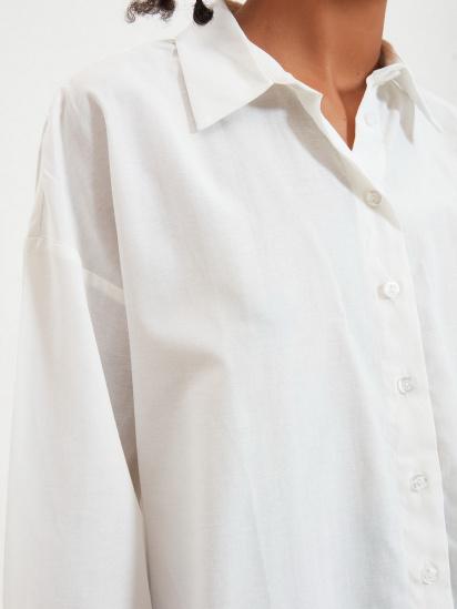 Сорочка з довгим рукавом Trendyol модель TWOAW22GO0147/Ekru — фото 5 - INTERTOP