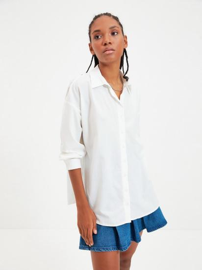 Сорочка з довгим рукавом Trendyol модель TWOAW22GO0147/Ekru — фото - INTERTOP