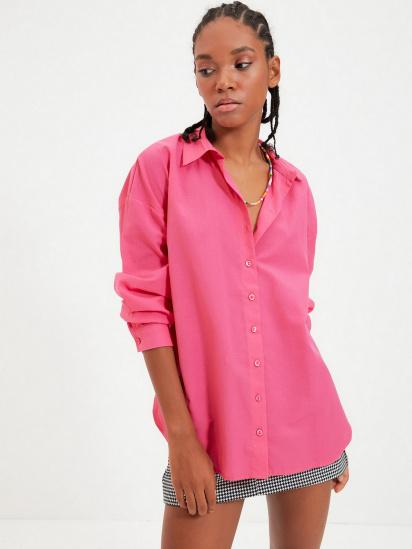 Сорочка з довгим рукавом Trendyol модель TWOAW22GO0147/Pembe — фото 3 - INTERTOP