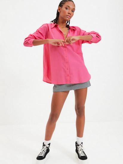 Сорочка з довгим рукавом Trendyol модель TWOAW22GO0147/Pembe — фото 4 - INTERTOP