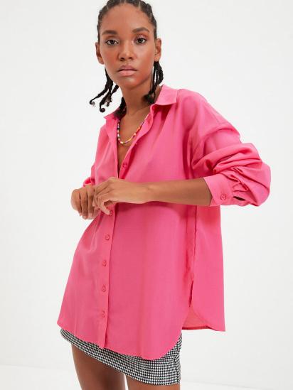Сорочка з довгим рукавом Trendyol модель TWOAW22GO0147/Pembe — фото - INTERTOP