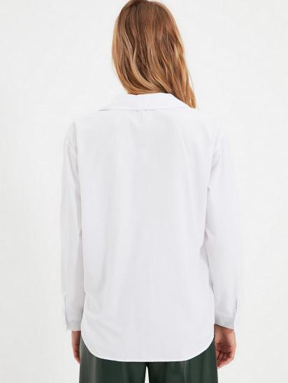 Сорочка з довгим рукавом Trendyol модель TWOAW22GO0153/Beyaz — фото 2 - INTERTOP