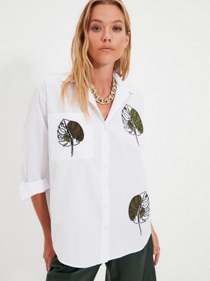 Сорочка з довгим рукавом Trendyol модель TWOAW22GO0153/Beyaz — фото 3 - INTERTOP