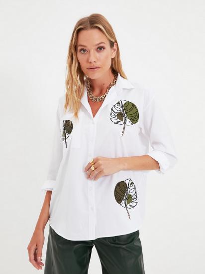 Сорочка з довгим рукавом Trendyol модель TWOAW22GO0153/Beyaz — фото - INTERTOP