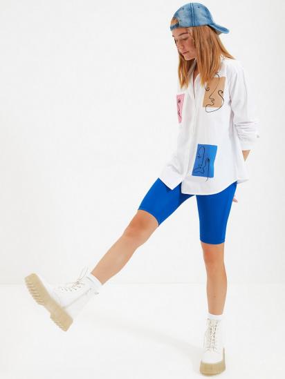 Сорочка з довгим рукавом Trendyol модель TWOAW22GO0161/Beyaz — фото 2 - INTERTOP